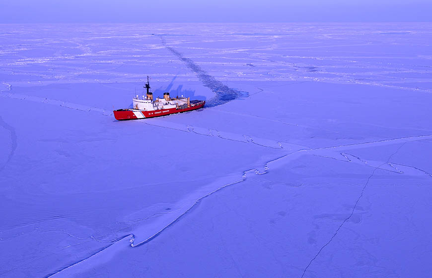 Polar Sea Ice Breaker in Bering Sea.