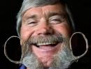 Mustache and beard winner Lou Lewis of Colorado Springs